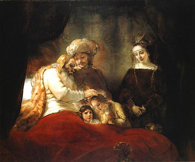 Картина рембрандта благословение