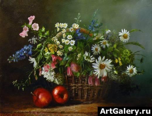 живопись натюрморт цветы: