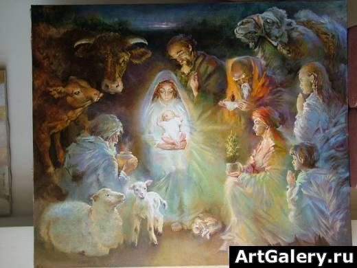 Картины на тему рождество