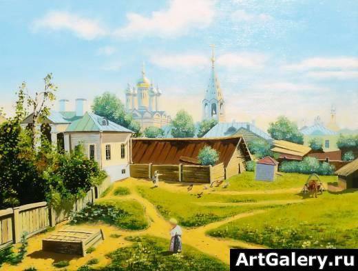 Картина московский дворик живопись
