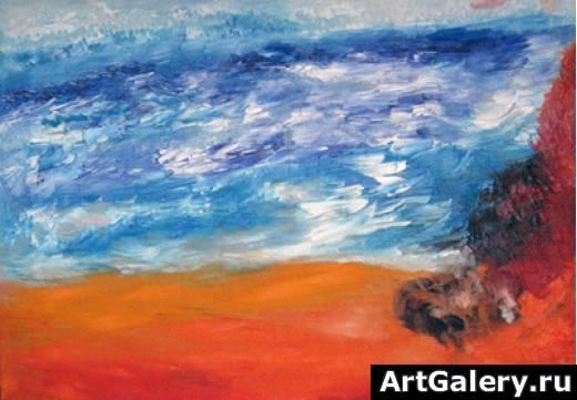 Абстракция музыка и цвет зимняя