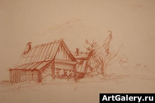 рисунки деревни: