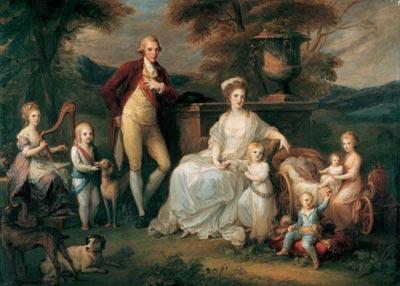 Ангелика Кауфман. Фердинанд IV с семьей 1783