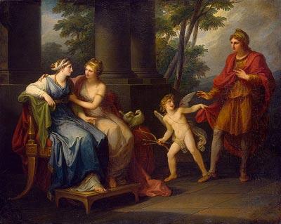Ангелика Кауфман. Венера зажигает в Елене любовь к Парису, 1790