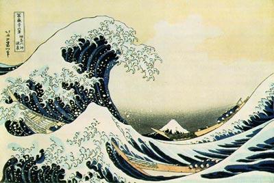 Японская гравюра. Хокусай.Большая волна в Канагава