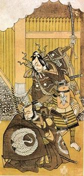 Японская гравюра. Сюнсё. Актеры Итикава Яодзо II и Итикава Дандзюро V